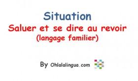 Diálogo en francés: saludar y despedirse de manera informal (Podcast)