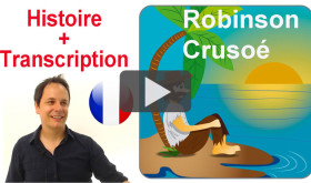 Historia para aprender francés: Robinson Crusoé