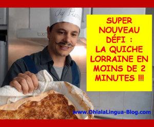 Recetas francesas la quiche lorraine for Cocinar en frances